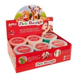 "Gyurma, 480 g, APLI, ""Fun Dough"" display, különleges színek (LCA13451)"
