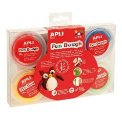 "Gyurma, 84 g, APLI, ""Fun Dough"", display, alap színek (LCA13454)"