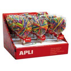 Postázó gumi, nyalóka display, APLI, vegyes színek (LCA14009)