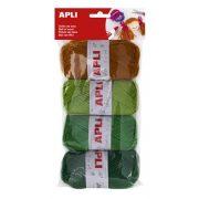 """Gombolyag készlet, APLI """"Kids"""", föld színek (LCA14090)"""