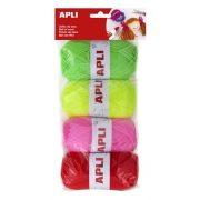 """Gombolyag készlet, APLI """"Kids"""", cukorka színek (LCA14093)"""