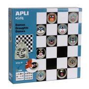 """Társasjáték, APLI """"Classic games"""", dáma játék"""
