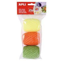 """Raffia gombolyag szett , APLI """"Kids"""", neon színek (LCA14412)"""