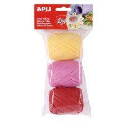 """Raffia gombolyag szett , APLI """"Kids"""", cukorka színek (LCA14415)"""