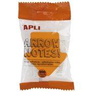 """Öntapadó jegyzettömb, nyíl alakú, 200 lap, APLI """"Arrow notes"""""""