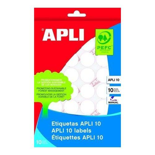 Etikett, 32 mm kör, kézzel írható, APLI, 150 etikett/csomag (LCA1630)