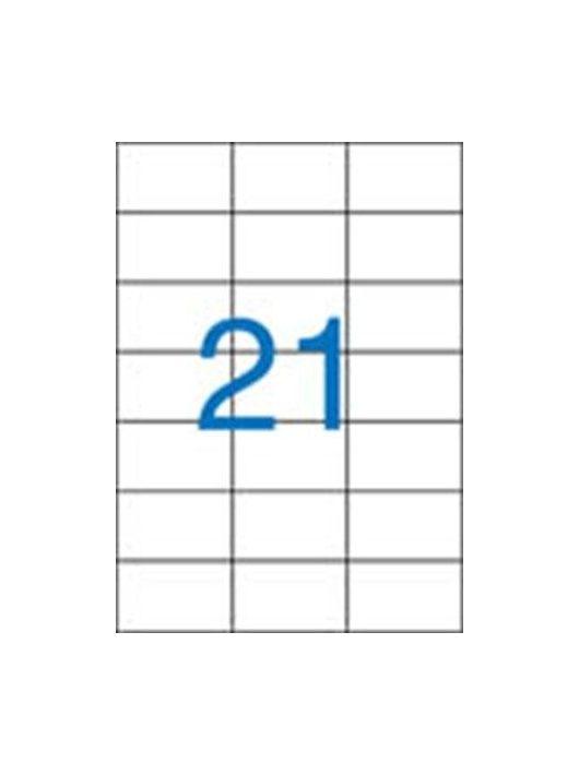 Etikett, univerzális, 70x42,4 mm, VICTORIA, 2100 etikett/csomag (LCV11370)
