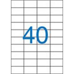 Etikett, univerzális, 52,5x29,7 mm, VICTORIA, 4000 etikett/csomag (LCV11378)