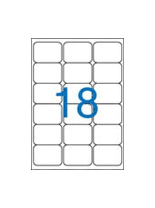 Etikett, univerzális, 63,5x46,6 mm, VICTORIA, 1800 etikett/csomag (LCV11385)