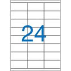 Etikett, univerzális, 70x36 mm, VICTORIA, 2400 etikett/csomag (LCV11388)