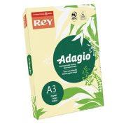 """Másolópapír, színes, A3, 80 g, REY """"Adagio"""", pasztell sárga"""