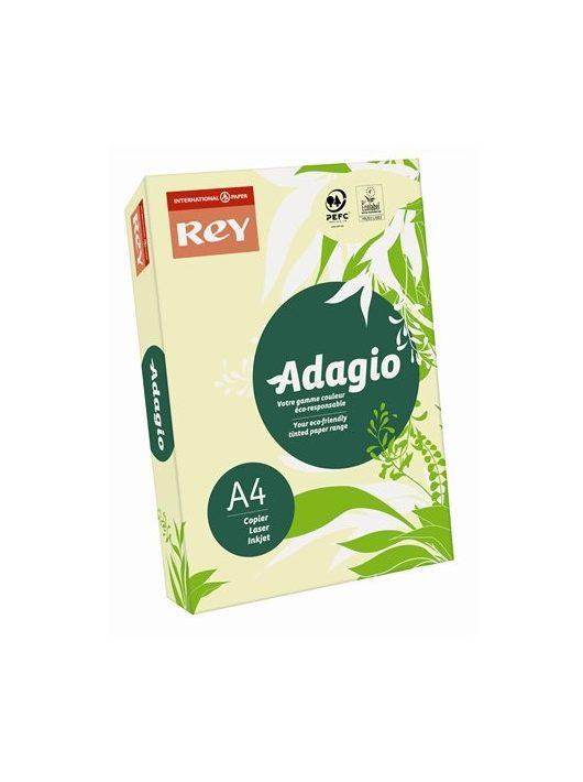 """Másolópapír, színes, A4, 160 g, REY """"Adagio"""", pasztell sárga"""