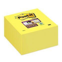 "Öntapadó jegyzettömb, 76x76 mm, 350 lap, 3M POSTIT ""Super Sticky"", sárga"