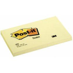 Öntapadó jegyzettömb, 76x127 mm, 100 lap, 3M POSTIT, sárga