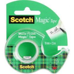 "Ragasztószalag, adagolón, kézi, 19 mm x 7,5 m, 3M SCOTCH ""Magic Tape 810"""