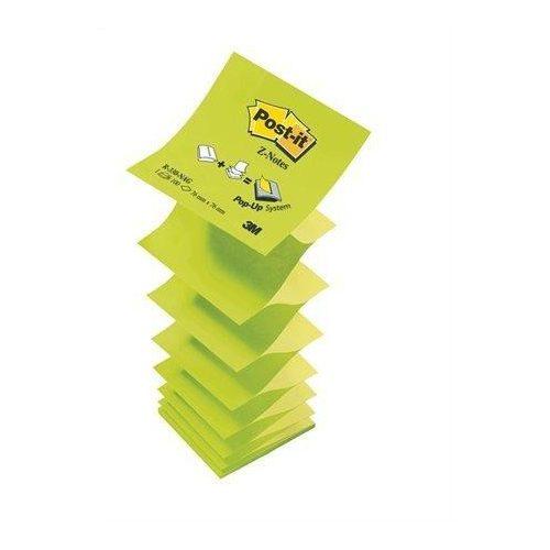 """Öntapadó jegyzettömb, """"Z"""", 76x76 mm, 100 lap, 3M POSTIT, zöld (LPR330Z1)"""