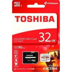 "Memóriakártya, Micro SDHC, 32GB, Class 10 U3, adapterrel, TOSHIBA ""M302 EXCERIA"""