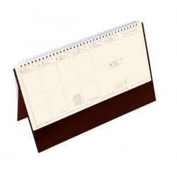Naptár 2020, asztali, álló, TOPTIMER, jegyzetblokkos, bordó