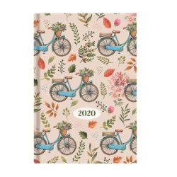 "Naptár 2020, tervező, A5, napi, TOPTIMER ""Joy"", bicikli"