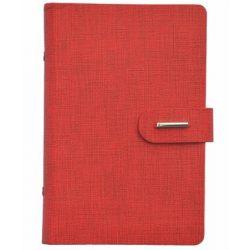 "Kalendárium, gyűrűs, betétlapokkal, ""L"", műbőr, SATURNUS, ""232"", piros"