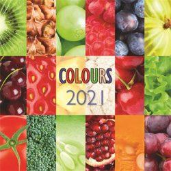 """Naptár 2020, fali, TOPTIMER, """"Colours"""""""