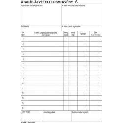 """Nyomtatvány, átadás-átvételi elismervény, 25x3, A5,  """"B.13-69"""" (NVB1369)"""