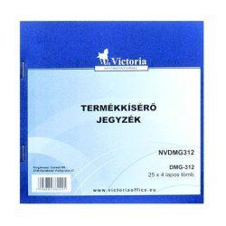 """Nyomtatvány, termékkísérő jegyzék, 25x4, VICTORIA """"DMG 3-12"""" (NVDMG312)"""