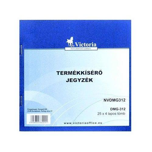 """Nyomtatvány, termékkísérő jegyzék, 25x4,  """"DMG 3-12"""" (NVDMG312)"""