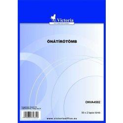 Önátírótömb, A4, 50x2 lap, VICTORIA (ONVA4502)
