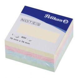 Öntapadós jegyzet/400 76x76 mm pasztell-mix