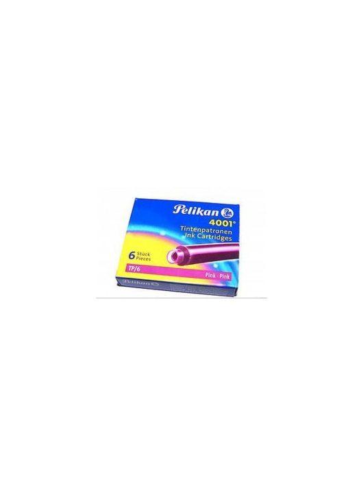 Pelikan Tintapatron, 6 db, briliáns pink
