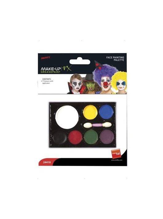 Arcfesték, szivaccsal, 7 különböző szín (PT24410)