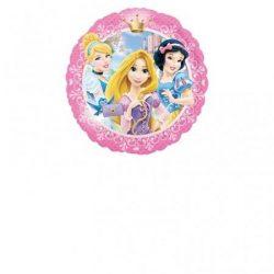Léggömb, 45 cm, fólia, hologramos, Princess