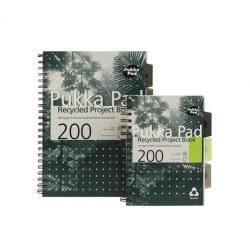 Spirálfüzet, újrahasznosított, A5, vonalas, 100 lap, PUKKA PAD, zöld
