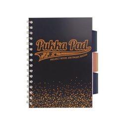 """Spirálfüzet, A5, kockás, 100 lap, PUKKA PAD, """"Blush project book"""", tengerészkék"""