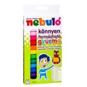 Gyurma, színes, 12 darabos, NEBULÓ (RNEBNSZGY)