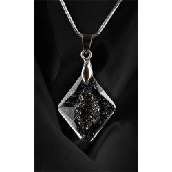 Nyaklánc, Crystals in Crystal, Black Diamond SWAROVSKI® medállal, 26mm, ART CRYSTELLA®