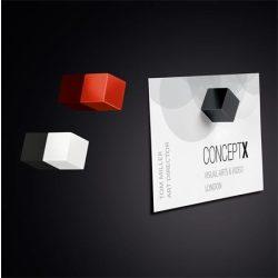 """Mágnes, kocka, 11x11x11 mm, 3 db, SIGEL """" Artverum®"""", 3 különböző szín"""