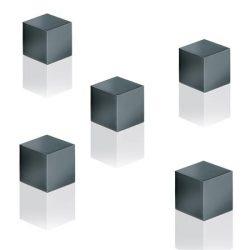 "Mágnes, kocka, 11x11x11 mm, 5 db, SIGEL "" Artverum®"", titánszürke"