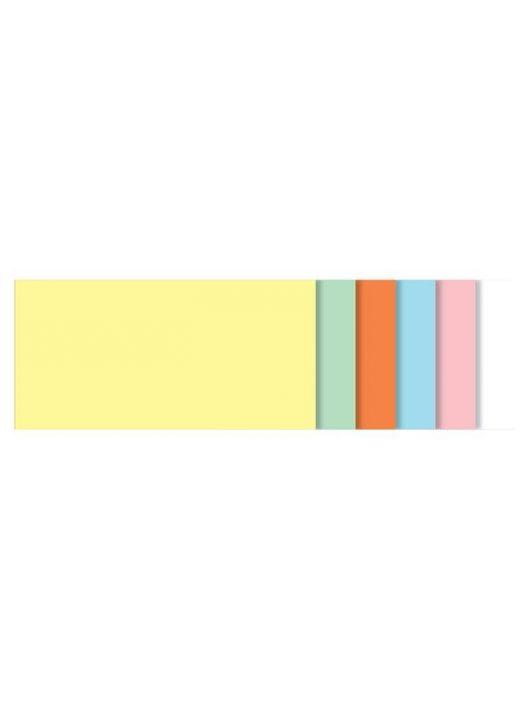 Moderációs kártyák, szögletes,10x20 cm, 6 szín, SIGEL, vegyes színek