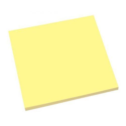 Öntapadó jegyzettömb, elektrosztatikus, 100x100 mm, 100 lap, SIGEL, sárga