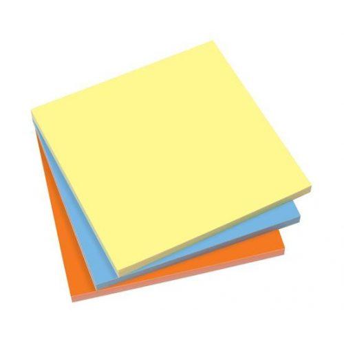 Öntapadó jegyzettömb, elektrosztatikus, 100x100 mm, 100 lap, SIGEL, 3 különböző szín