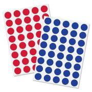 Moderációs jelölőpontok 18 mm kör, SIGEL, 1040 db/csomag, piros és kék