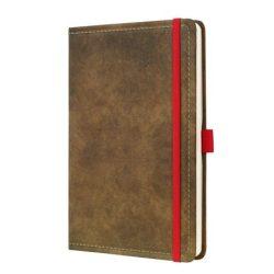 """Jegyzetfüzet, exkluzív, A5, vonalas, 194 oldal, SIGEL """"Conceptum Vintage"""", barna"""