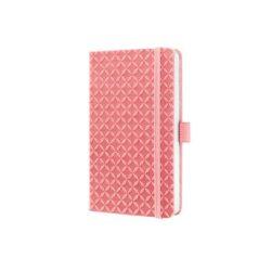 """Jegyzetfüzet, exkluzív, 95x150 mm, vonalas, 174 oldal, keményfedeles, SIGEL """"Jolie"""", rozé"""