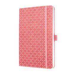 """Jegyzetfüzet, exkluzív, 135x203 mm, vonalas, 174 oldal, keményfedeles, SIGEL """"Jolie"""", rozé"""