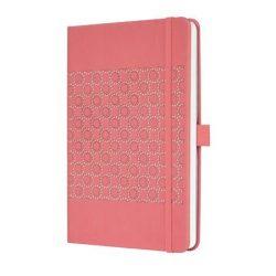 """Jegyzetfüzet, exkluzív, 135x203 mm, vonalas, 174 oldal, keményfedeles, SIGEL """"Jolie"""", lazac"""