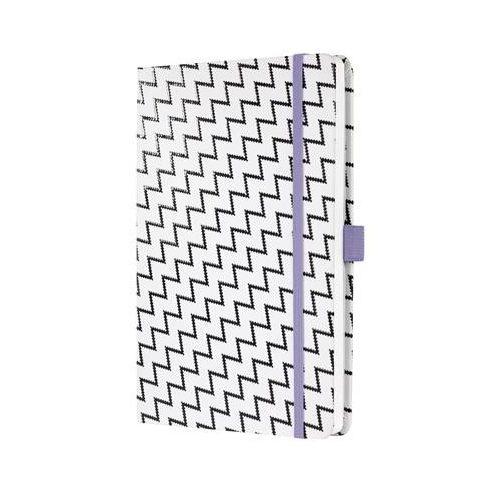 """Jegyzetfüzet, exkluzív, 135x203 mm, vonalas, 174 oldal, keményfedeles, SIGEL """"Jolie"""", White"""