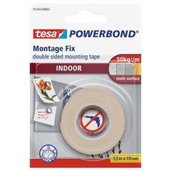 """Ragasztószalag, kétoldalas, beltéri, 19 mm x 1,5 m, TESA """"Powerbond"""""""