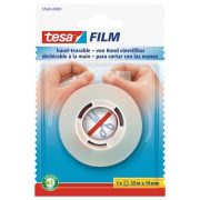"""Ragasztószalag, kézzel téphető, 19 mm x 25 m, TESA """"Tesafilm"""", átlátszó"""